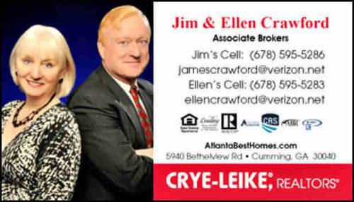 Cumming GA Crye-Leike REALTORS Jim & Ellen Crawford